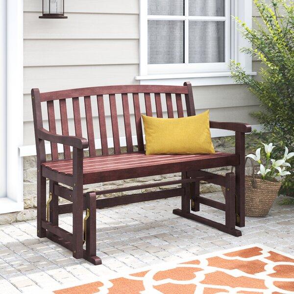 Worcester Glider Wood Garden Bench by Charlton Home Charlton Home