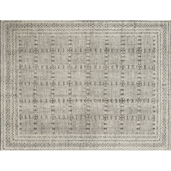 Watts Hand-Knotted Blue/Natural Area Rug by Union Rustic