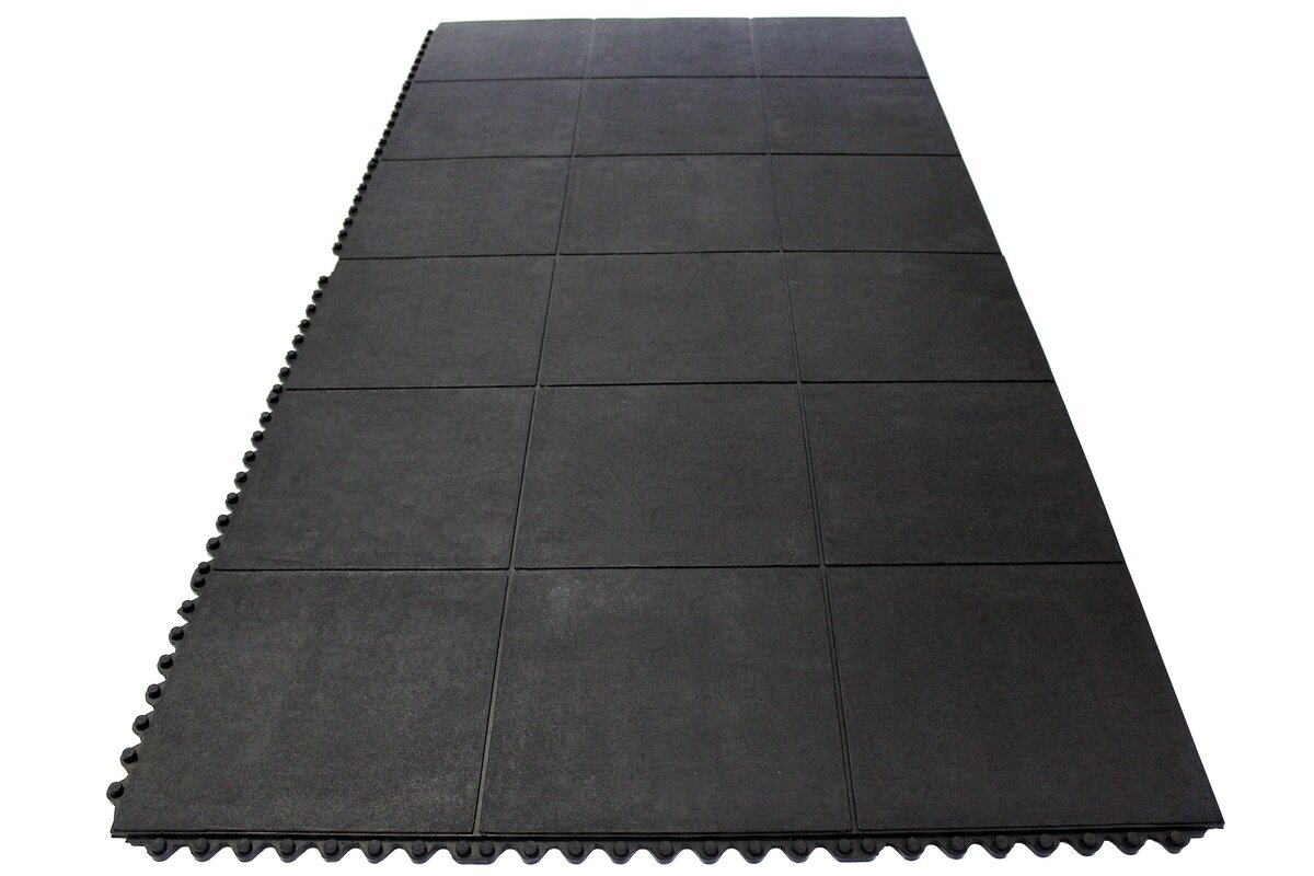 Envelor home anti fatigue heavy duty solid rubber floor tiles anti fatigue heavy duty solid rubber floor tiles utility mat dailygadgetfo Image collections
