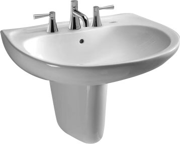 Supreme Ceramic 22 Wall Mount Bathroom Sink with Overflow by Toto