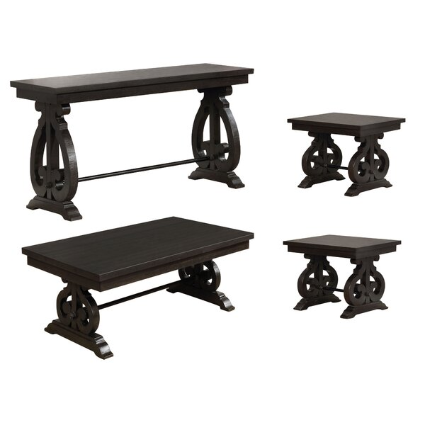 Alcazar 4 Piece Coffee Table Set by One Allium Way