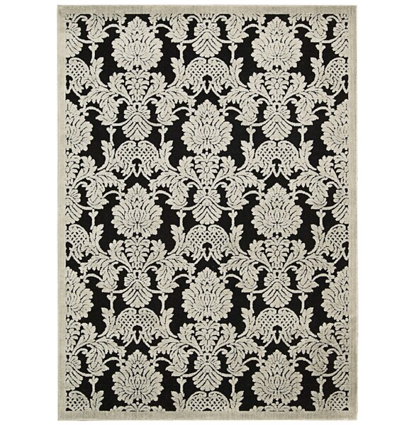 Riffe Black Area Rug by Alcott Hill
