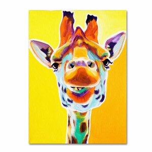Giraffe No. 3 by DawgArt on Canvas by Trademark Fine Art