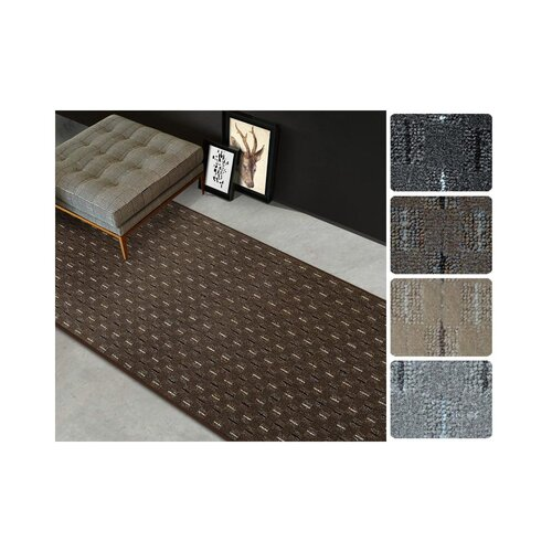 Hallee Tufted Brown Rug Mercury Row Rug Size: Runner 300 x 1