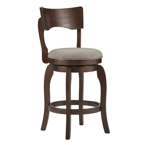 Wescott Swivel Bar Stool by Three Posts