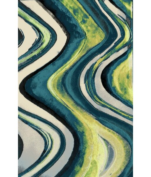 Toombs Blue Indoor/Outdoor Area Rug by Ebern Designs