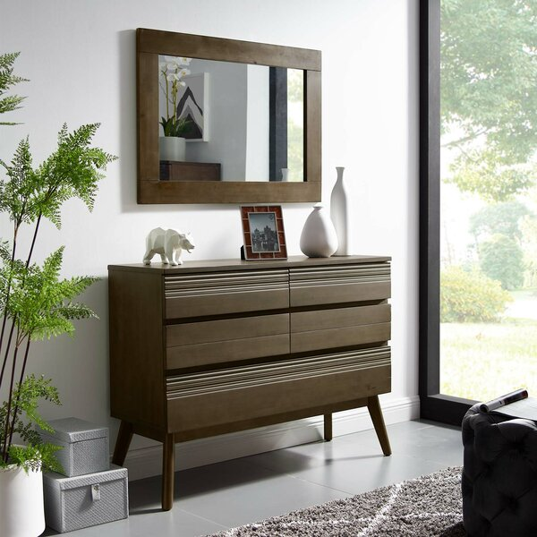 Burson 5 Drawer Double Dresser with Mirror by George Oliver