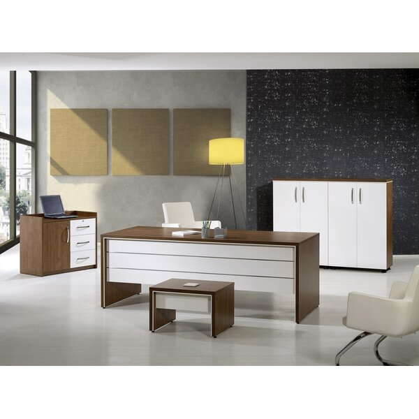 Neriah Modern 4 Piece Desk Office Suite by Corrigan Studio