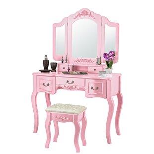 Blush Pink Vanity Stool | Wayfair