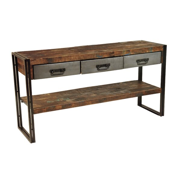 Marguerite 3 Drawer Console Table by 17 Stories