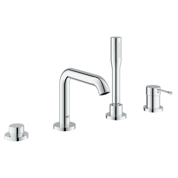 Essence New Single Handle Deck Mounted Tub Filler Trim with Personal Hand Shower by Grohe