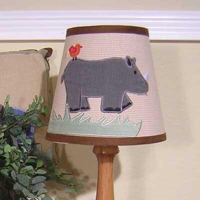On Safari Wire 5 Cotton Empire Lamp Shade by Brandee Danielle