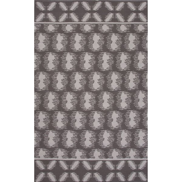 Camarillo Flat Weave Cotton Gray/Ivory Area Rug by Loon Peak