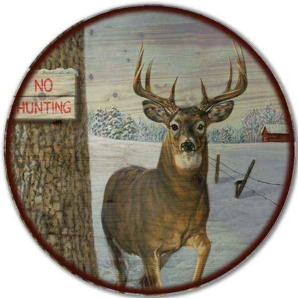 No Hunting Lazy Susan by WGI-GALLERY