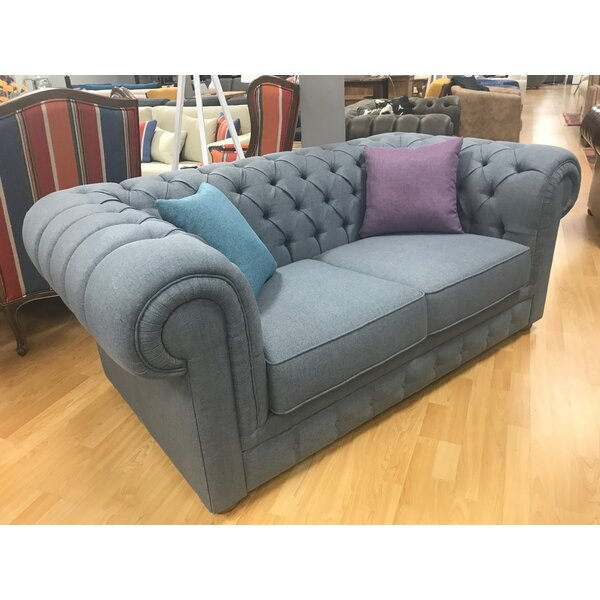 Aurelia Chesterfield Loveseat by Darby Home Co