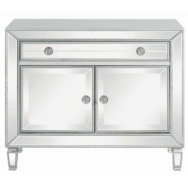 Tottenville 2 Door Mirrored Accent Cabinet By Rosdorf Park