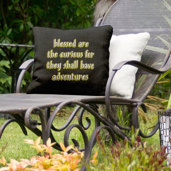 Curiosity Inspirational Indoor/Outdoor Throw Pillow