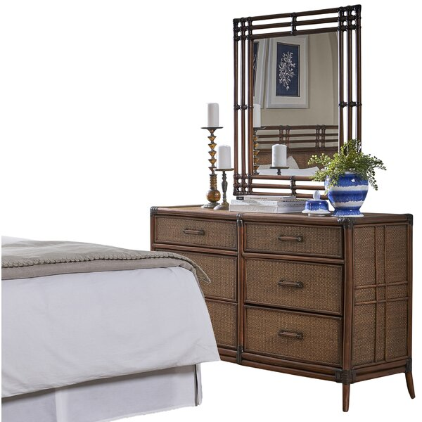 Lamont 6 Drawer Double Dresser with Mirror by Bay Isle Home