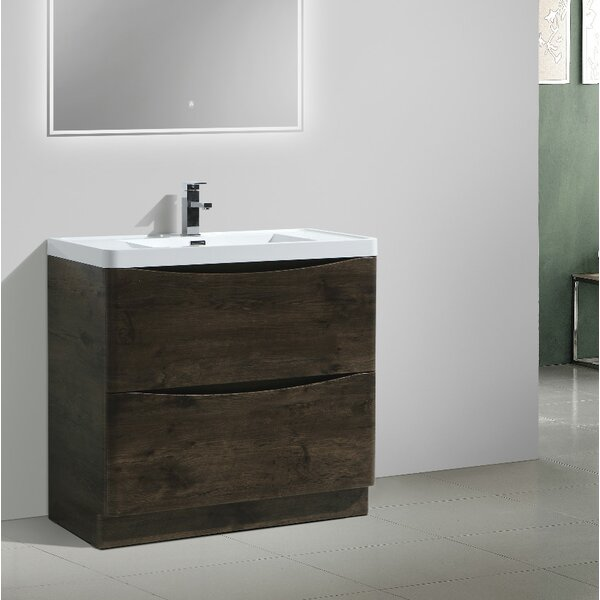 Ruelas Free Standing Modern 35 Single Bathroom Vanity Set by Wrought Studio