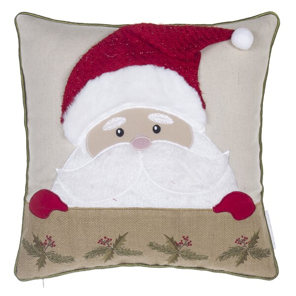 Santa Claus Throw Pillow by 14 Karat Home Inc.