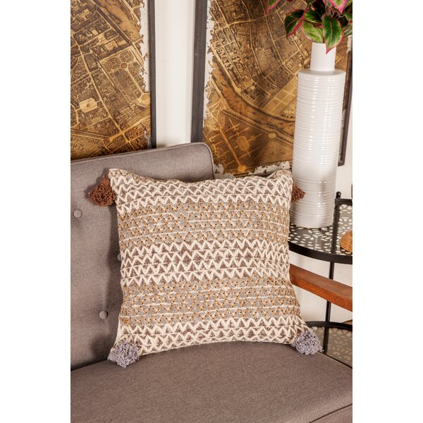 Goodrow Rustic Pillow Cover by Bungalow Rose