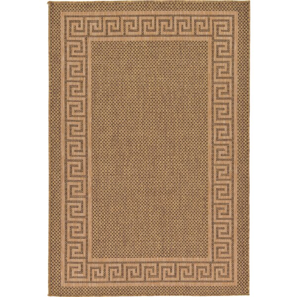 Flint Brown Outdoor Area Rug by Charlton Home