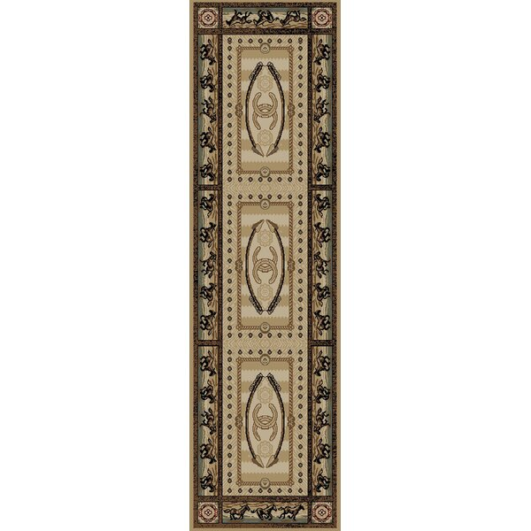 American Destinations Beige/Black Area Rug by Mayberry Rug