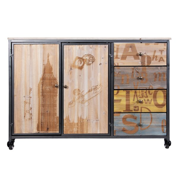 London Calling Rolling 2 Door Accent Cabinet by Varaluz