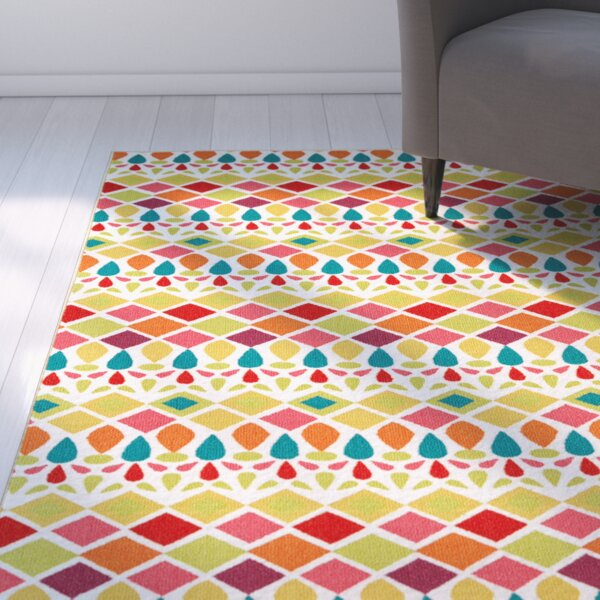 Keri Pink/Yellow Area Rug by Latitude Run