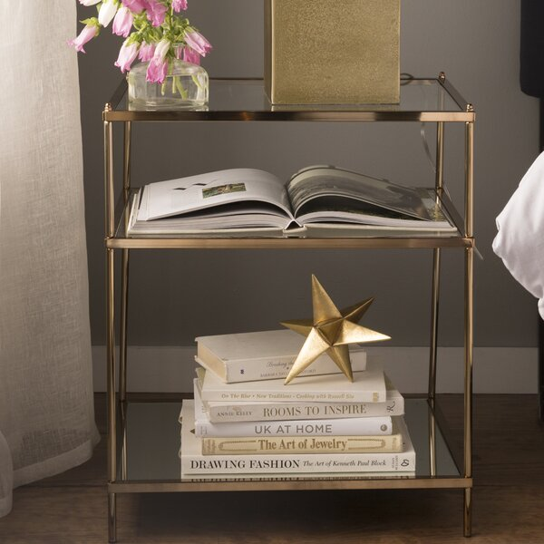 Review Janelle Glass Top End Table