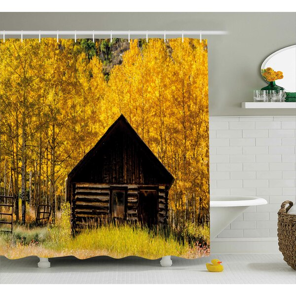 Bleeker Farmhouse in Aspen Tree Shower Curtain by Winston Porter