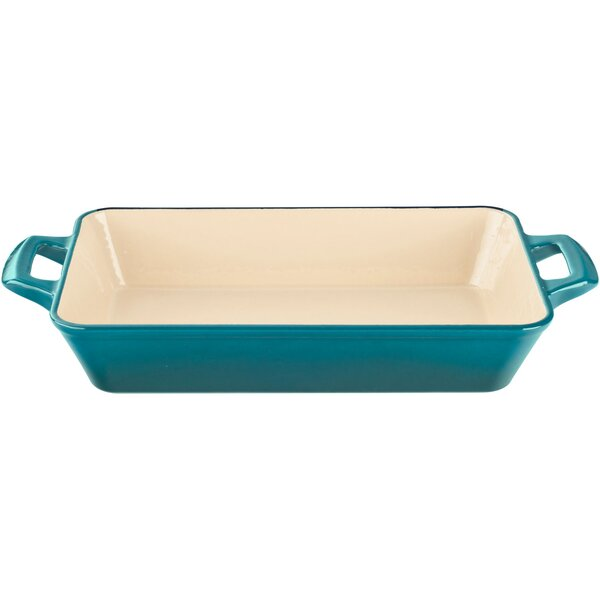 15.7 Medium Deep Cast Iron Roasting Pan by La Cuisine