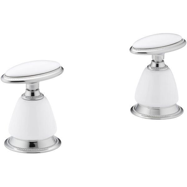 Handle Insets and Skirts for Lavatory Faucets (Set of 2) by Kohler