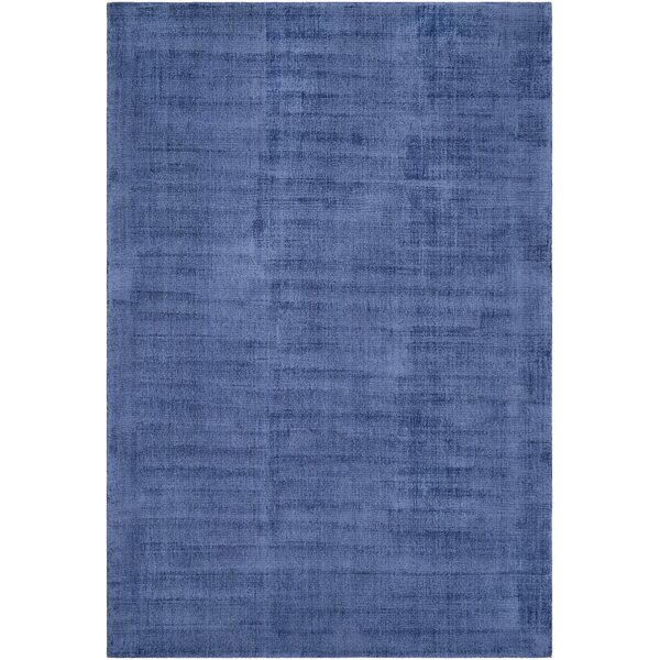 Silvana Hand-Loomed Dark Blue Area Rug by Highland Dunes