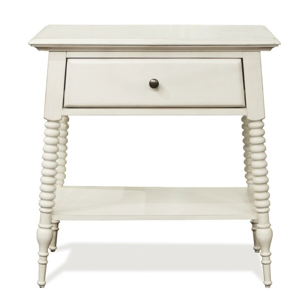 Newcastle 1 Drawer Nightstand by Rosecliff Heights