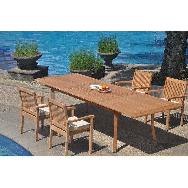 Miraloma 5 Piece Teak Dining Set by Rosecliff Heights