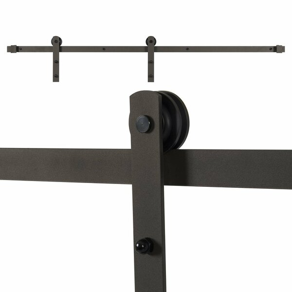 Classic Rustic Sliding Door Track Hardware by Belleze