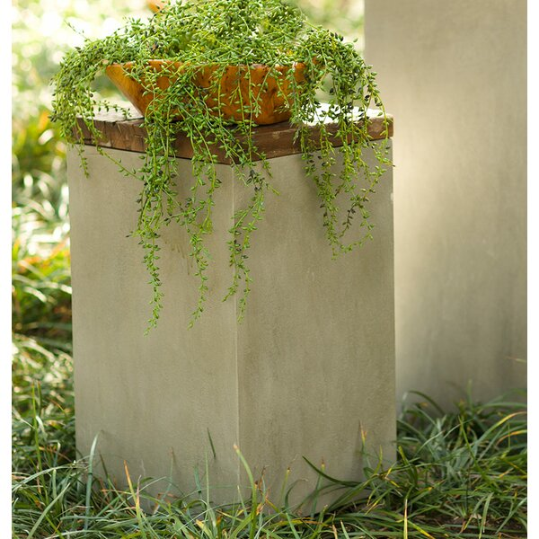 Cement and Reclaimed Wooden Pot Planter by VivaTerra