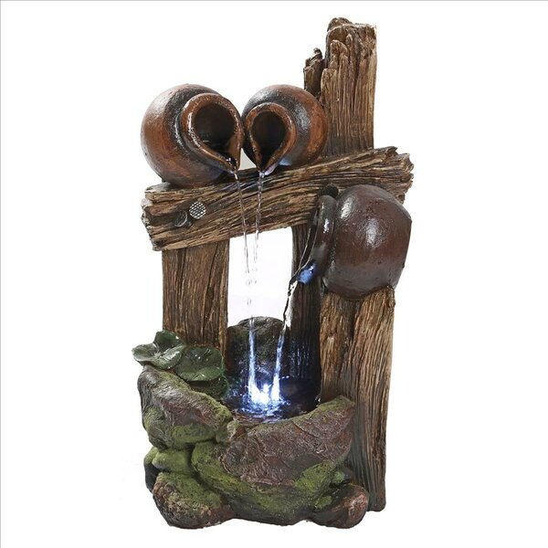 Resin Cascading Urns of Ravello Illuminated Garden Fountain with LED Light by Wildon Home ®