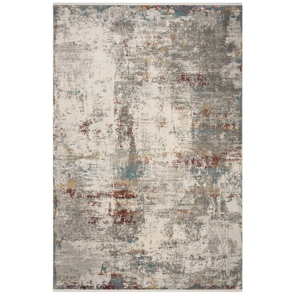 Midsomer Light Gray/Beige Area Rug by Williston Forge
