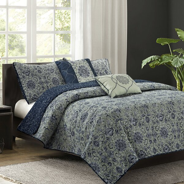 Forrest 5 Piece Reversible Quilt Set by Alcott Hill