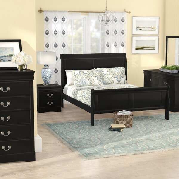 Larrabee Queen Sleigh 5 Piece Bedroom Set by Alcott Hill
