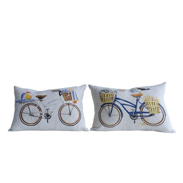 Edgardo 2 Piece Bicycle Cotton Lumbar Pillow Set by Highland Dunes