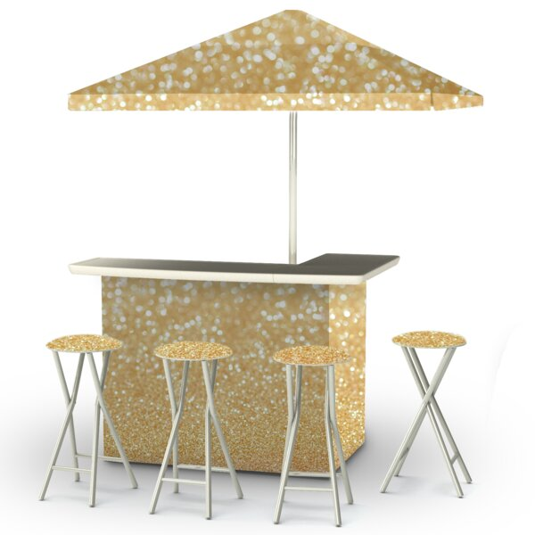 Glitter Me Gold 8 Piece Bar Set by Best of Times