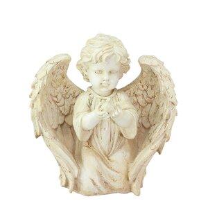 Heavenly Gardens Kneeling Cherub Angel with Dove Outdoor Patio Garden Statue