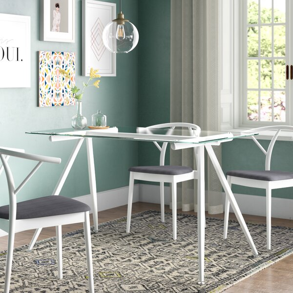 Woodhouse Contemporary Glass Dining Table by Brayden Studio