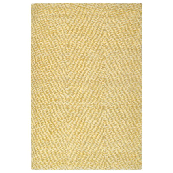 Caneadea Hand-Tufted Gold Area Rug by George Oliver