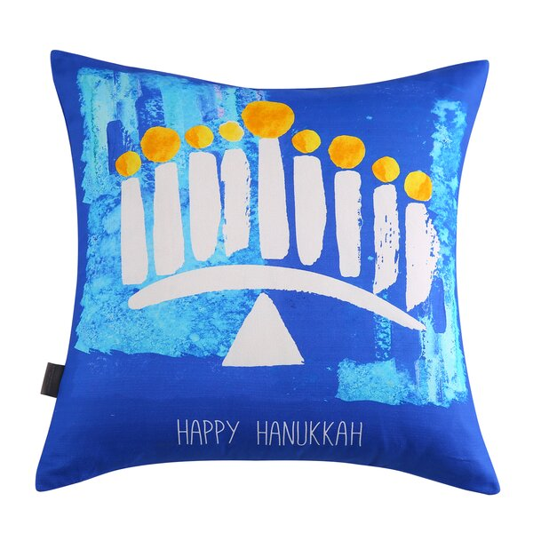 Bedelia Hanukkah Cotton Throw Pillow by The Holiday Aisle