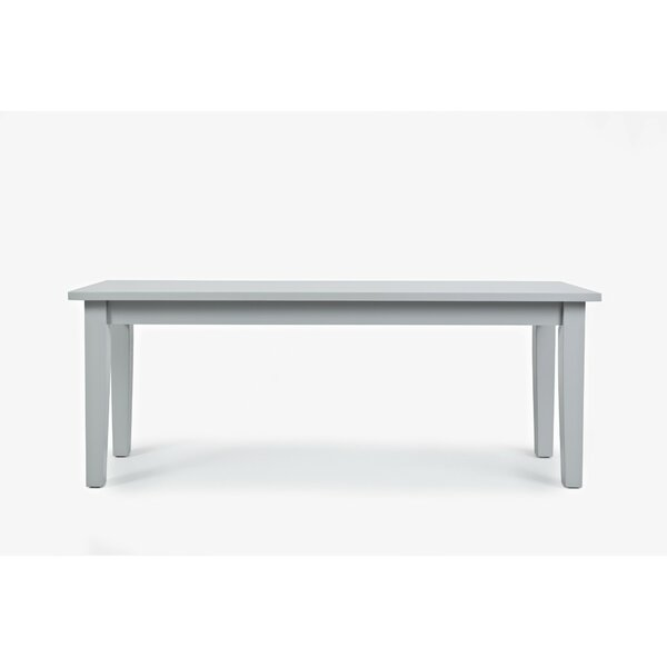 Wallis Rectangular Dining Wood Bench by August Grove