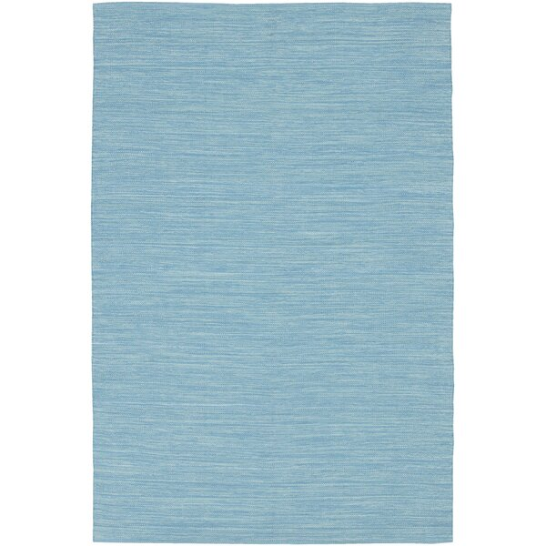 Elbeni Hand Woven Cotton Blue Area Rug by Zipcode Design